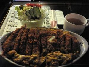 かつ丼+サラダ