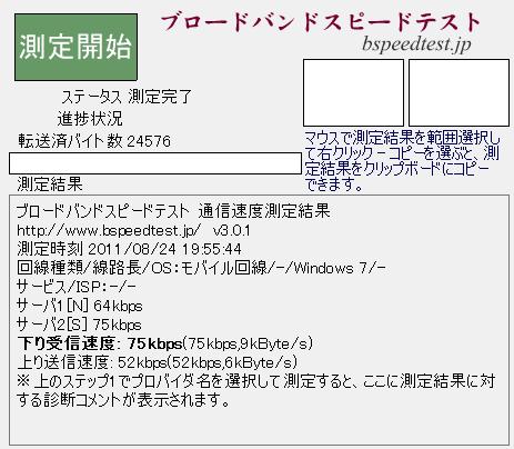 BF-01B with b-mobile イオン100Kbpsプラン @札幌駅近辺