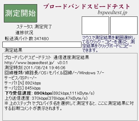 BF-01B with ドコモデータ定額プラン @札幌駅近辺