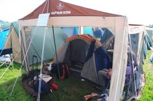 タープinテント