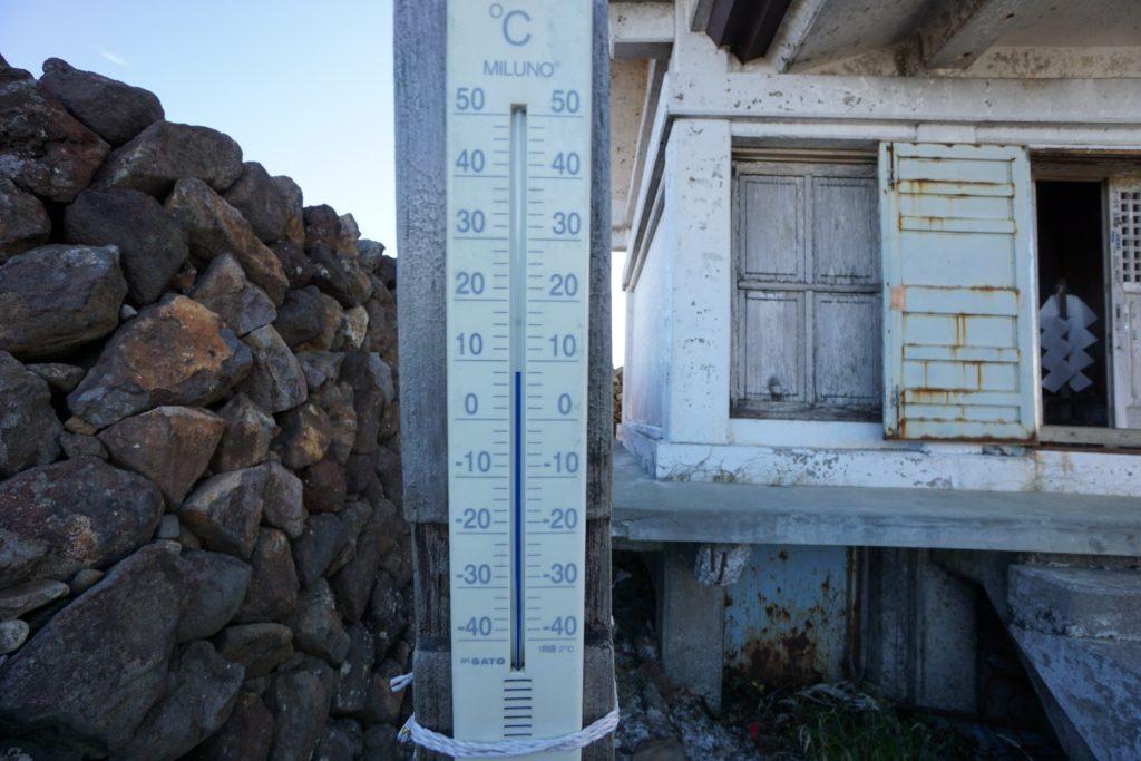 温度計の様子です。